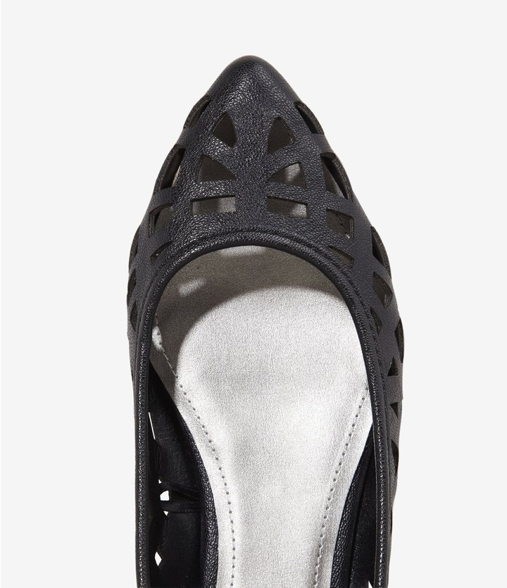 Express Laser Cut Pointed Toe Flat