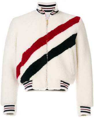 Thom Browne Knitted Stripe Blouson Jacket