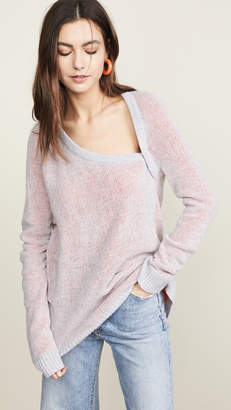 TRE by Natalie Ratabesi Cold Shoulder Cashmere Sweater