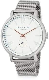 Ted Baker Stainless Steel Mesh Bracelet Watch