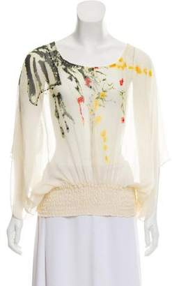Diane von Furstenberg Silk Embellished Top