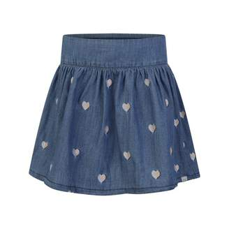 Little Marc Jacobs Little Marc JacobsBlue Denim Skirt With Hearts