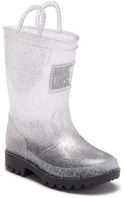 Muk Luks Clear Molly Rain Boots With Socks (Toddler & Little Kid)