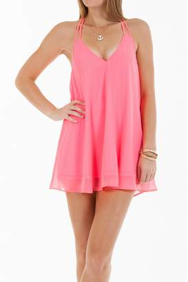 Double Zero Neon Pink Shift-Dress