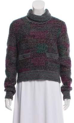 Chanel Wool-Blend Turtleneck Sweater