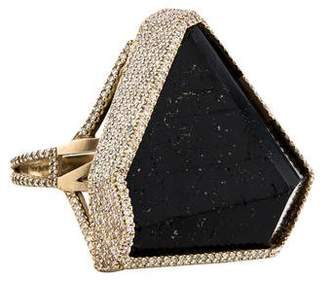 Monique Péan 18K Black Tourmaline & Diamond Caldera Ring