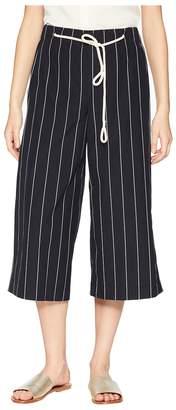 Vince Skinny Stripe Side Slit Culotte Women's Casual Pants