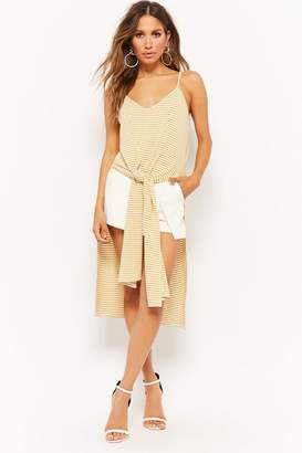 Forever 21 Striped Tie-Front Tunic