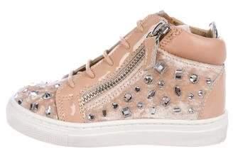 Giuseppe Zanotti Girls' Veronica Embellished Sneakers