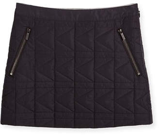 Karl Lagerfeld Quilted Zip-Trim Mini Skirt, Black, Size 6-10
