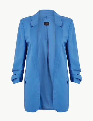 M&S CollectionMarks and Spencer Linen Blend Open Front Blazer