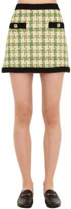 Gucci Bicolor Cotton Blend Tweed Mini Skirt
