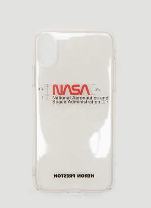 Heron Preston Nasa iPhone X Case in White