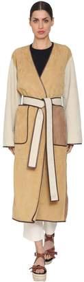 Loewe Color Block Suede Coat