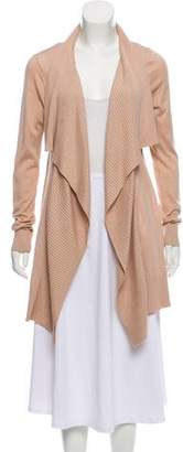 Diane von Furstenberg Silk- Blend Open Front Cardigan