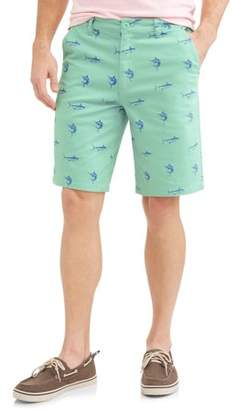 Royal Premium Men's Flat Front Twill Shorts With Novelty Print