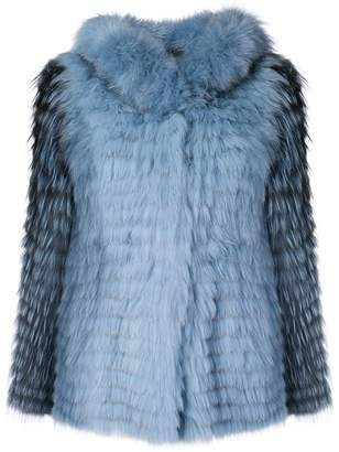 Yves Salomon hooded short jacket