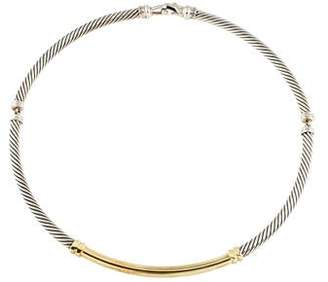 David Yurman Diamond Metro Collar Necklace