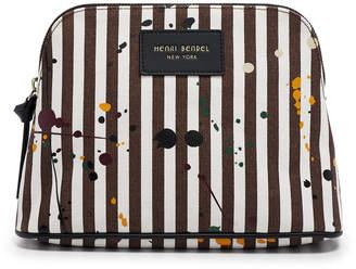 Henri Bendel Splatter Paint Canvas Cosmetic Case