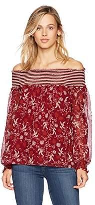 Ella Moon Women's Jaylin Long Sleeve Off Shoulder Blouse