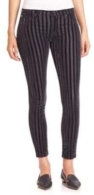 Hudson Nico Striped Velvet Ankle Pants