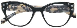 Miu Miu crystal embellished glasses