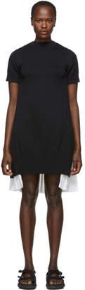 Sacai Black and White Knit Shirting Dress