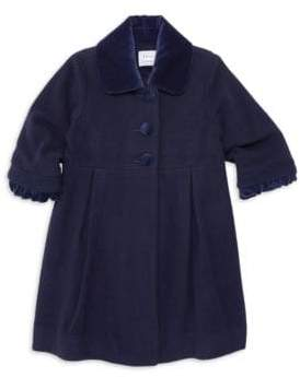 Florence Eiseman Little Girl's& Girl's Velvet& Wool Coat