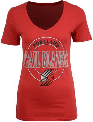 5th & Ocean Women's Portland Trail Blazers Circle Glitter T-Shirt