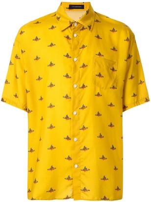 John Undercover JohnUNDERCOVER logo print shirt