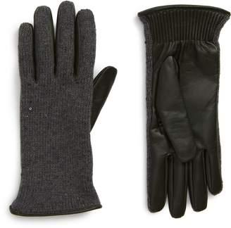 Brunello Cucinelli Cashmere, Silk & Leather Gloves