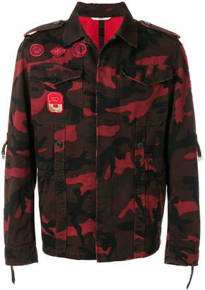 Valentino camouflage jacket with military embroidery