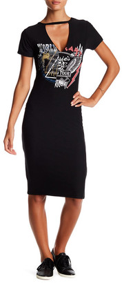 PLANET GOLD Bodycon Graphic Tee Dress $16.97 thestylecure.com