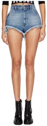 Versace Pantalone Denim/Jeans Donna Shorts in Bluette Women's Shorts