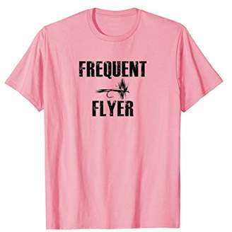 Fly London Frequent Flyer Fishing Trout Salmon T Shirt