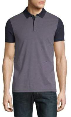 HUGO BOSS Place Colorblocked Short-Sleeve Cotton Polo