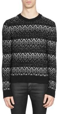 Saint Laurent Knit Chevron Sweater