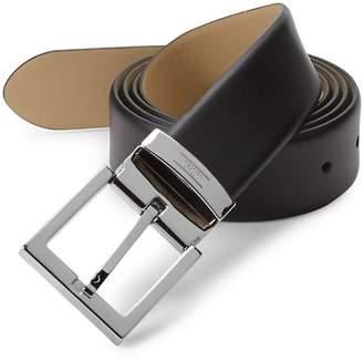 Armani Collezioni Men's Tessuto Leather Belt