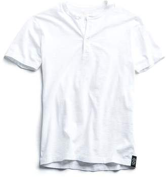 Todd Snyder Made in L.A. Short Sleeve Henley in White