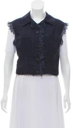 Chanel Lace-Trimmed Linen Vest