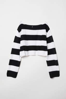 H&M Striped Sweater - Black