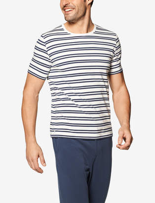 Tommy John Second Skin Stripe Crew Neck Tee