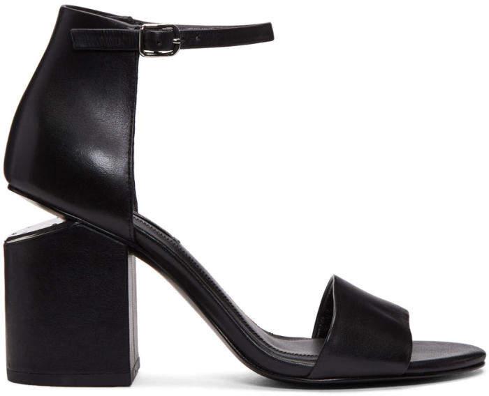 Alexander Wang Black Abby Sandals