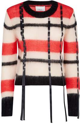 3.1 Phillip Lim Check Mohair Sweater