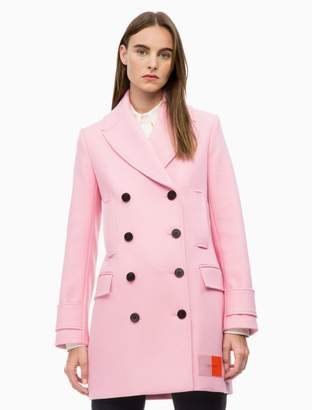 Calvin Klein Structured Wool Pea Coat