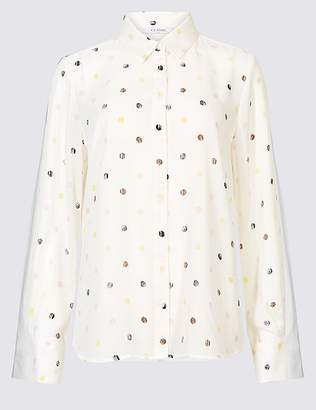 Marks and Spencer Spotted Long Sleeve Shirt