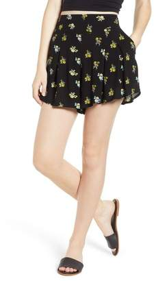 BP Floral Print Pleated Shorts