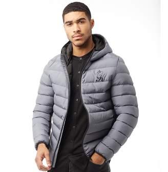Gym King Mens Puffer Jacket Steel Grey