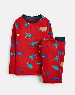 Joules Kipwell Jersey Pj Set in Red Dino Scout