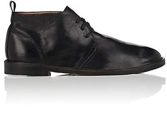 Elia Maurizi Men's Washed Leather Chukka Boots - Black